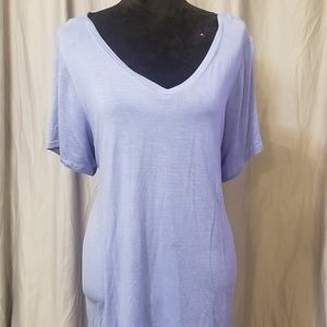 Periwinkle Tshirt with silver pinstripes